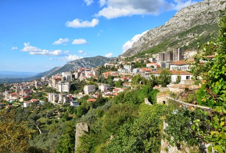 View from Dollma Tekke in Krujë, Albania