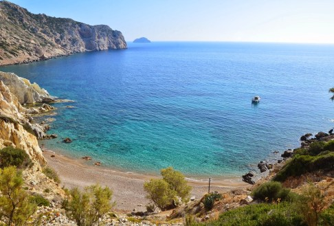 Vroulidia beach in Chios, Greece