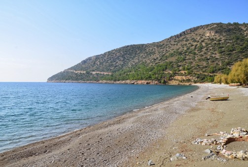 The beach at Ovabükü, Datça, Turkey