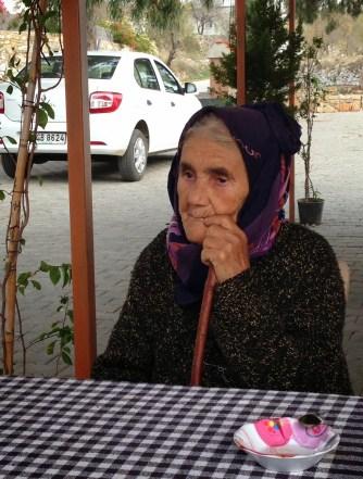 An old woman in Belen on Datça Peninsula, Turkey