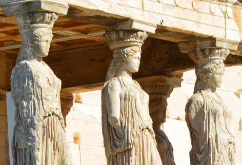 Caryatids at the Acropolis, Athens, Greece