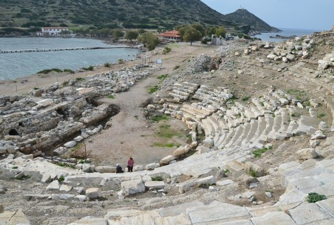 Small theatre at Knidos on Datça Peninsula, Turkey