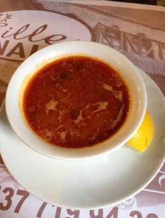 Bamya çorbası at Sille Konak in Sille, Turkey