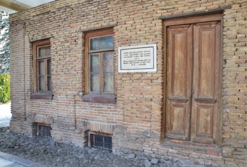 Stalin's birth home at the Joseph Stalin Museum in Gori, Georgia