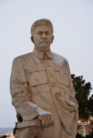 Stalin statue at the Joseph Stalin Museum in Gori, Georgia