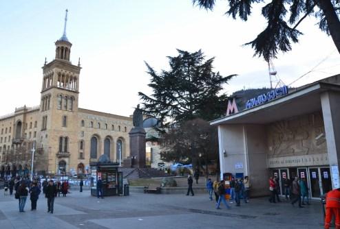 Rustavelis Moedani in Tbilisi, Georgia