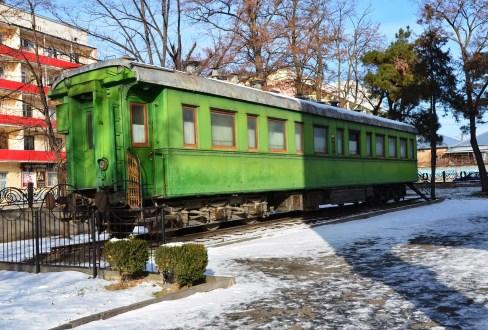 Stalin's rail carriage at the Joseph Stalin Museum in Gori, Georgia