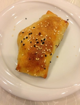 Samsa at Yüksel Uygur Restaurant in Aksaray, Istanbul, Turkey