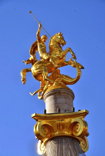 St. George monument in Tbilisi, Georgia