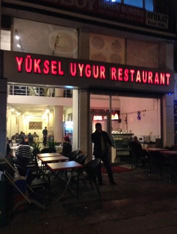 Yüksel Uygur Restaurant in Aksaray, Istanbul, Turkey