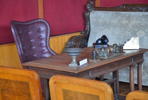 Stalin's desk at the Kremlin at the Joseph Stalin Museum in Gori, Georgia