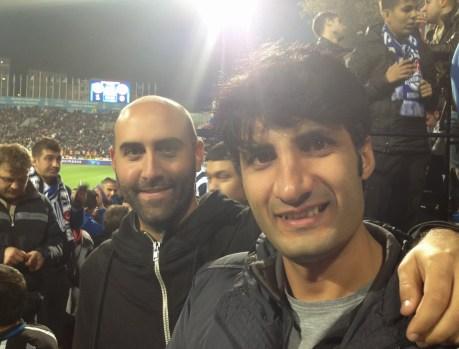 Me and Emrullah at Kasımpaşa vs Galatasaray at Recep Tayyip Erdoğan Stadyumu, İstanbul, Turkey