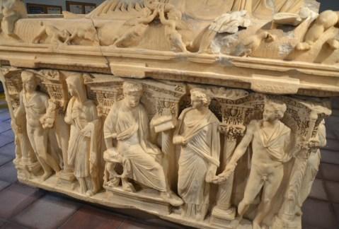 Sarcophagus at Konya Archaeological Museum in Konya, Turkey