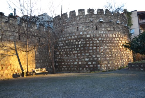 City walls in Tbilisi, Georgia
