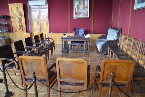 Stalin's furniture and desk at the Kremlin at the Joseph Stalin Museum in Gori, Georgia
