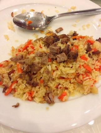 Uygur pilav at Yüksel Uygur Restaurant in Aksaray, Istanbul, Turkey