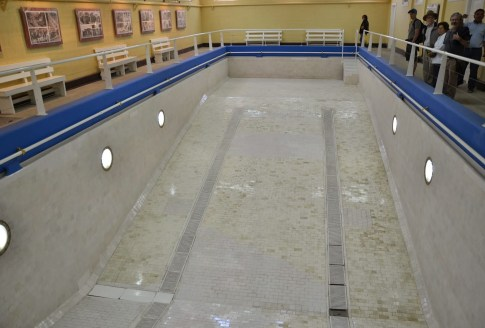 Indoor pool at Sewell Mining Town, Chile
