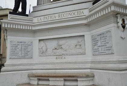 Monumento a los Heroes de Iquique in Valparaíso, Chile
