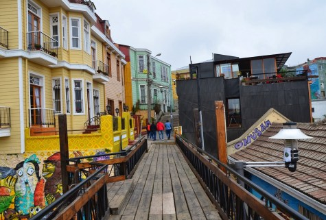 Paseo Dimalow in Valparaíso, Chile