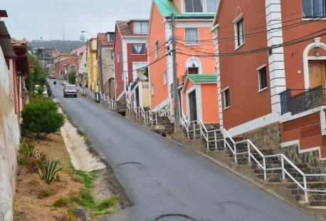 Along Av. Alemania in Valparaíso, Chile