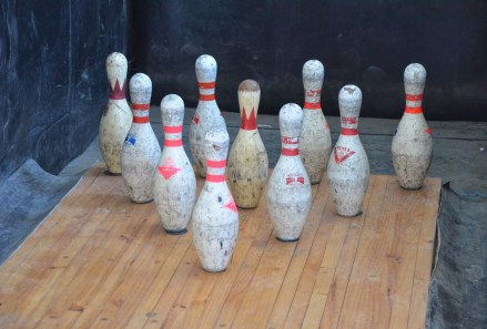 Bowling alley at Sewell Mining Town, Chile
