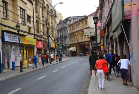 Calle Esmeralda in Valparaíso, Chile