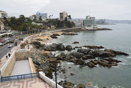 View from the lookout at Castillo Wulff in Viña del Mar, Chile
