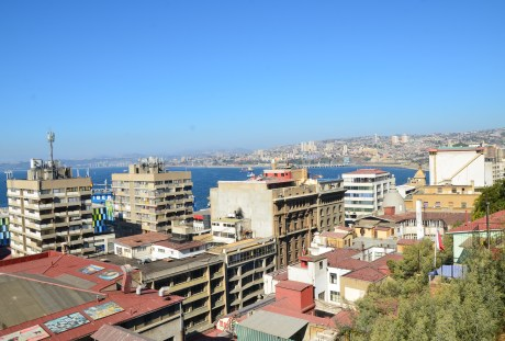 The view from Paseo Yugoslavo in Valparaíso, Chile
