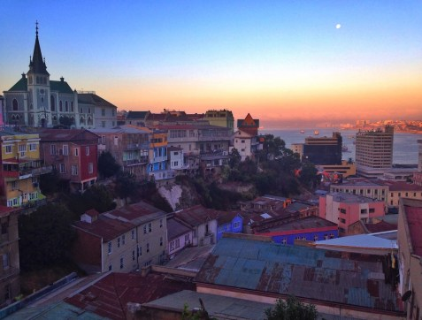 The view from Paseo Dimalow in Valparaíso, Chile