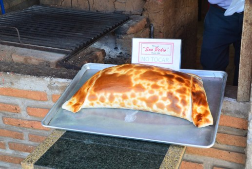 World's largest empanada? in Pomaire, Chile