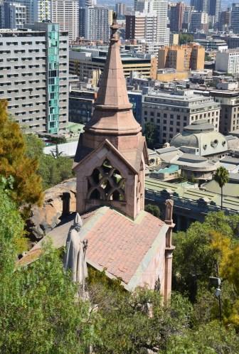 Capilla la Ermita at Cerro Santa Lucía in Santiago de Chile