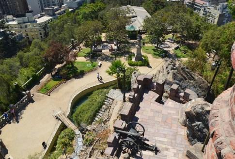 Gardens at Cerro Santa Lucía in Santiago de Chile