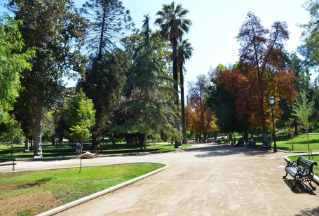 Parque Forestal in Santiago de Chile