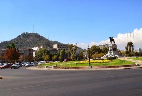 Plaza Baquedano in Santiago de Chile
