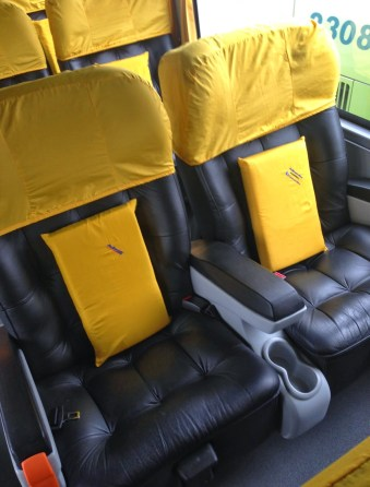 Pullman bus seat in La Serena, Chile