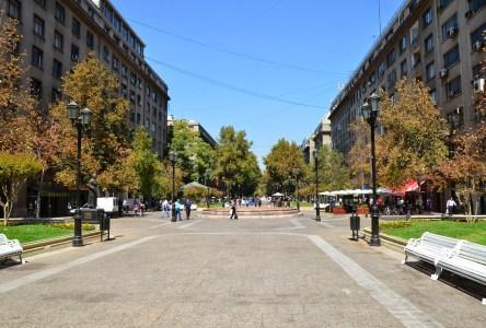 Paseo Bulnes in Santiago de Chile