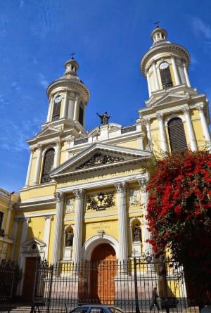 Iglesia de San Ignacio in Barrio Dieciocho, Santiago de Chile