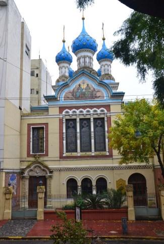 Iglesia Ortodoxa Rusa de la Santísima Trinidad in San Telmo, Buenos Aires, Argentina