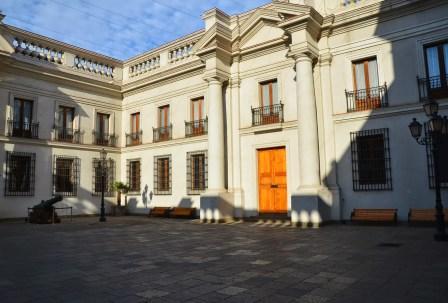 Patio de los Cañones at Palacio de La Moneda in Santiago de Chile