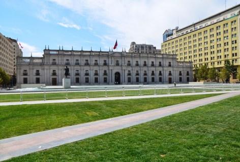 Plaza de la Ciudadanía at Palacio de La Moneda in Santiago de Chile