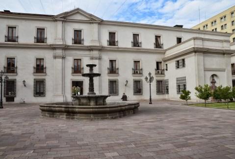 Patio de los Naranjos at Palacio de La Moneda in Santiago de Chile