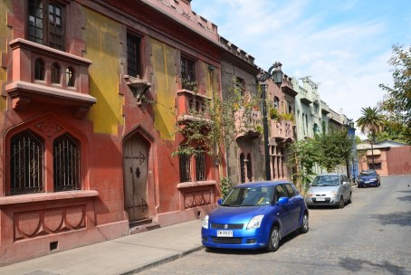 Pasaje Hurtado Rodríguez in Barrio Yungay, Santiago de Chile