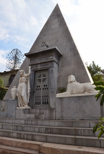 Egyptian temple tomb at Cementerio General in Santiago de Chile