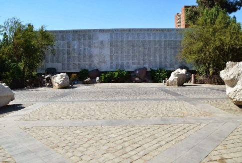 Political victims memorial at Cementerio General in Santiago de Chile