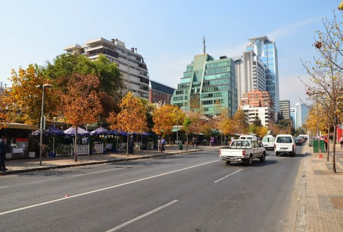 Avenida Isidora Goyenechea in Santiago de Chile