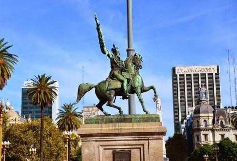 Manuel Belgrano monument at Plaza de Mayo in Buenos Aires, Argentina