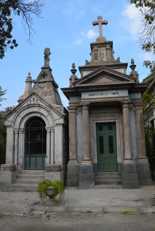 Tomb of Andres Bello (right) at Cementerio General in Santiago de Chile