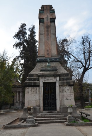 Tomb of Pedro Montt at Cementerio General in Santiago de Chile