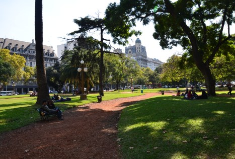 Plaza General Agustín Pedro Justo in Barrio Monserrat, Buenos Aires, Argentina