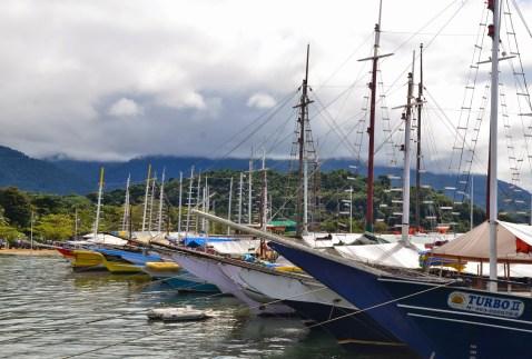 Marina in Paraty, Brazil